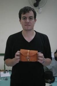 um dos exemplares de bolsa produzidos durante a oficina